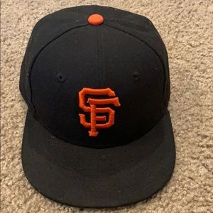 Toddler New Era SF Giants Fitted Hat - Size 6 1/2